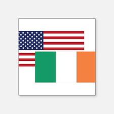 American And Irish Flag Sticker