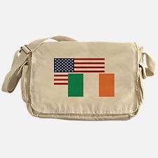 American And Irish Flag Messenger Bag