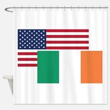 American And Irish Flag Shower Curtain