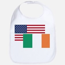 American And Irish Flag Bib
