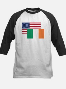 American And Irish Flag Baseball Jersey