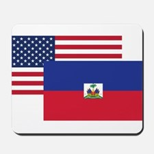 American And Haitian Flag Mousepad