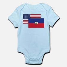 American And Haitian Flag Body Suit