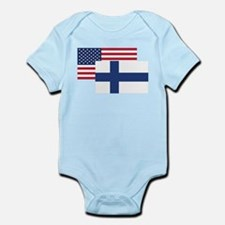 American And Finnish Flag Body Suit