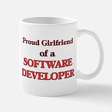 Proud Girlfriend of a Software Developer Mugs