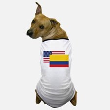 American And Colombian Flag Dog T-Shirt