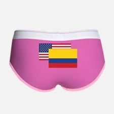 American And Colombian Flag Women's Boy Brief