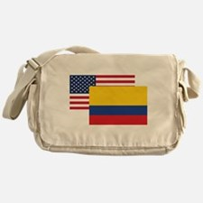 American And Colombian Flag Messenger Bag