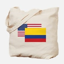 American And Colombian Flag Tote Bag