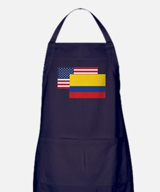 American And Colombian Flag Apron (dark)