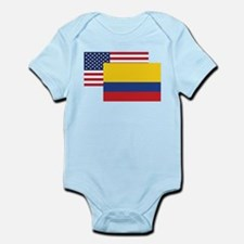 American And Colombian Flag Body Suit
