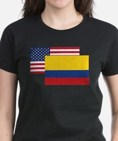 American And Colombian Flag T-Shirt