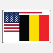 American And Belgian Flag Banner
