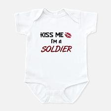 Kiss Me I'm a SOLDIER Infant Bodysuit