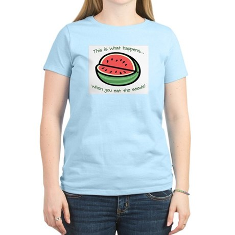 Watermelon Seeds Women's Light T-Shirt