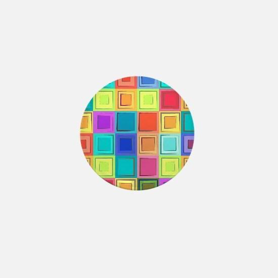 Colorful Retro Mini Button
