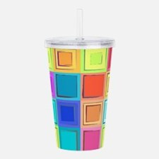 Colorful Retro Acrylic Double-wall Tumbler