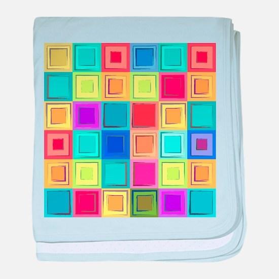 Colorful Retro baby blanket