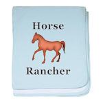 Horse Rancher baby blanket