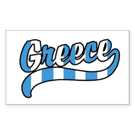 Greece Rectangle Sticker