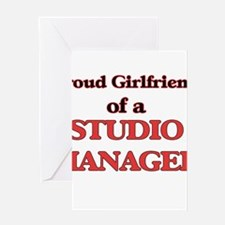 Proud Girlfriend of a Studio Manage Greeting Cards