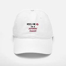 Kiss Me I'm a SOFTWARE TRAINER Baseball Baseball Cap