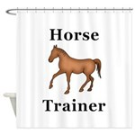 Horse Trainer Shower Curtain