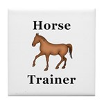 Horse Trainer Tile Coaster