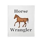 Horse Wrangler Throw Blanket