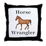 Horse Wrangler Throw Pillow