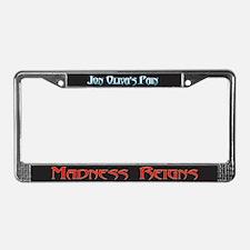 Jon Oliva's Pain License Plate Frame