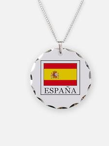 Unique Spain Necklace Circle Charm
