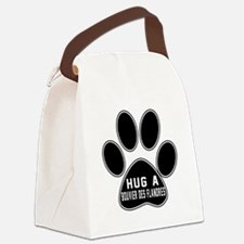 Hug A Bouvier Des Flandres Dog Canvas Lunch Bag