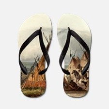 Assiniboin teepee Native Skin Lodge Flip Flops