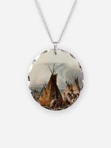 Assiniboin teepee Native Ski Necklace