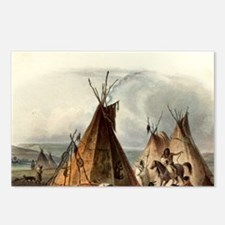 Assiniboin teepee Native Postcards (Package of 8)