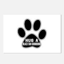 Hug A Black & Tan Coonhou Postcards (Package of 8)