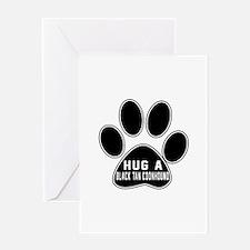 Hug A Black & Tan Coonhound Dog Greeting Card