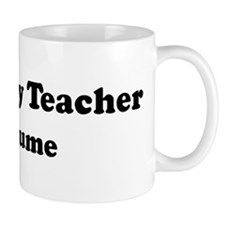 Geography Teacher costume Mug