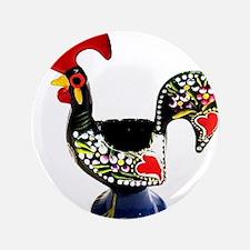 Portugal Rooster Lenda do Galo de Barcelos Button