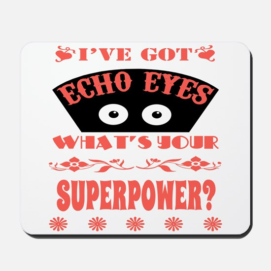 Echo Eyes Superpower Coral Mousepad