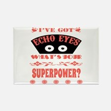 Echo Eyes Superpower Coral Rectangle Magnet