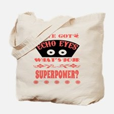 Echo Eyes Superpower Coral Tote Bag