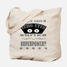 Echo Eyes Superpower Gray Tote Bag