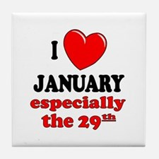 January 29th Tile Coaster