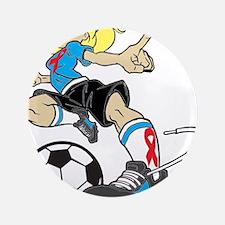 """SOCCER GIRL 3.5"""" Button (100 pack)"""