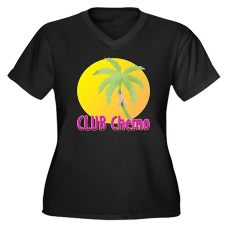 Club Chemo - Uterine Women's Plus Size V-Neck Dark