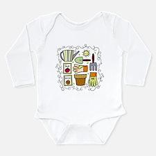 Funny Garden Long Sleeve Infant Bodysuit