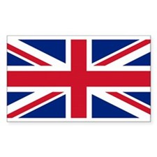 British Flag Rectangle Decal