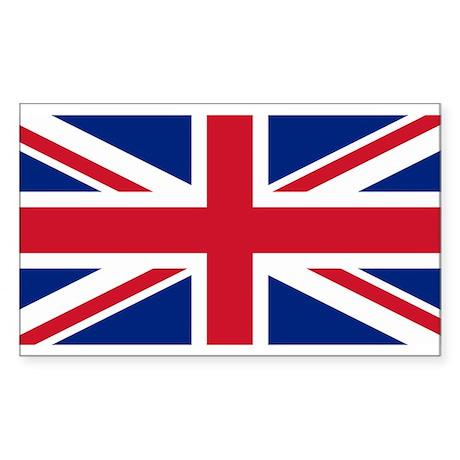 British Flag Rectangle Sticker